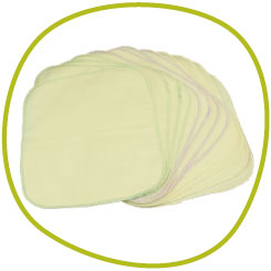 Organics flannel wipes